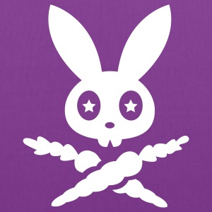rabbit hare bunny bunnies carrots star eyes scull Bags & backpacks - Tote Bag
