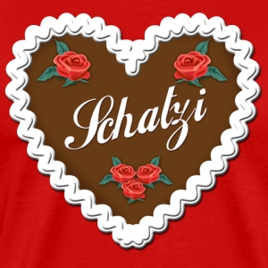 Lebkuchenherz SCHATZI Gingerbread red Roses Tee - Men's Premium T-Shirt