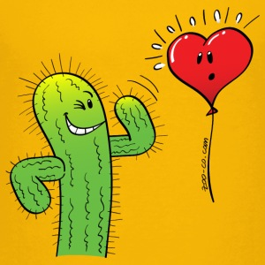 Cactus Flirting with a Heart Balloon Kids' Shirts - Kids' Premium T-Shirt