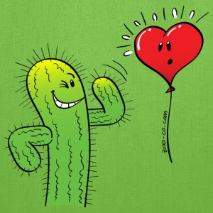 Cactus Flirting with a Heart Balloon Bags & backpacks - Tote Bag