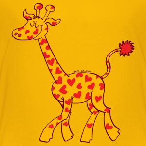 Red Heart Spotted Giraffe Baby & Toddler Shirts - Toddler Premium T-Shirt