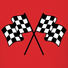 Checkered Flag 2 color T-Shirts
