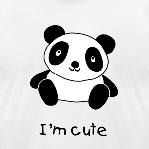Cute Panda - Men's T-Shirt by American Apparel