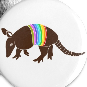 armadillo texas turkey hillbilly rainbow Buttons - Large Buttons
