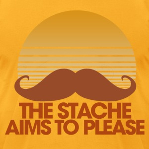 the STACHE - Men's T-Shirt by American Apparel