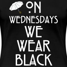 On Wednesdays We Wear Black Women's T-Shirts