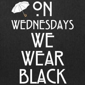 On Wednesdays We Wear Black Bags & backpacks - Tote Bag