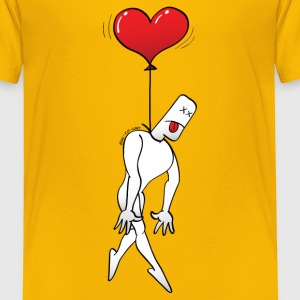 Man Hanged by a Heart Balloon Baby & Toddler Shirts - Toddler Premium T-Shirt