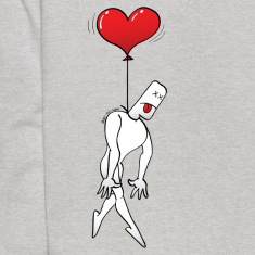 Man Hanged by a Heart Balloon Sweatshirts