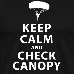 KEEP CALM AND CHECK CANOPY 2 - Men's Premium T-Shirt
