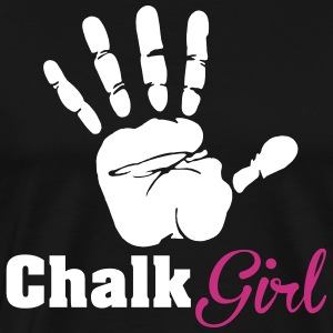 Climbing: Chalk girl T-Shirts - Men's Premium T-Shirt