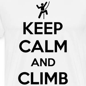 Keep calm and climb T-Shirts - Men's Premium T-Shirt