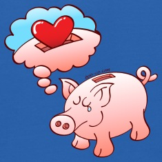 Piggy Bank Dreaming of Hearts instead of Coins Sweatshirts