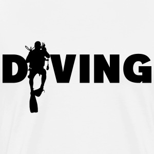 Diving  T-Shirts - Men's Premium T-Shirt