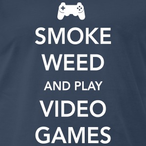 Smoke weed and play video games T-Shirts - Men's Premium T-Shirt