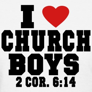 I LOVE CHURCH  BOYS Women's T-Shirts - Women's T-Shirt