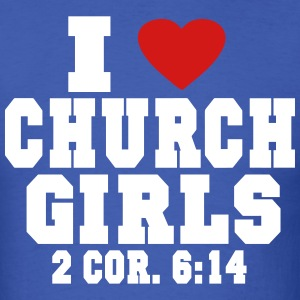 I LOVE CHURCH GIRLS T-Shirts - Men's T-Shirt