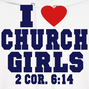 I LOVE CHURCH GIRLS Hoodies - Men's Hoodie