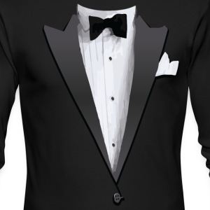 Tuxedo Jacket Costume T-shirt Long Sleeve Shirts - Men's Long Sleeve T-Shirt by Next Level