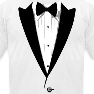 Custom Color Tuxedo Tshirt T-Shirts - Men's T-Shirt by American Apparel