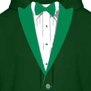 Custom Color Tuxedo Tshirt Hoodies - Men's Hoodie