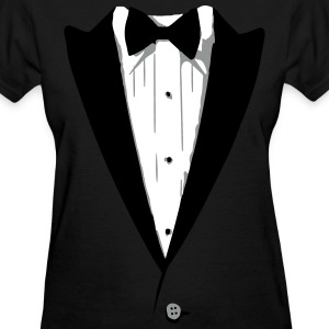 Custom Color Tuxedo Tshirt Women's T-Shirts - Women's T-Shirt
