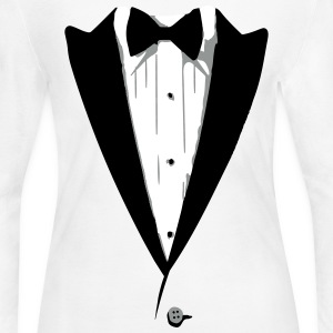 Custom Color Tuxedo Tshirt Long Sleeve Shirts - Women's Long Sleeve Jersey T-Shirt