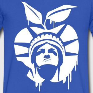 New York Apple Liberty VNeck - Men's V-Neck T-Shirt by Canvas