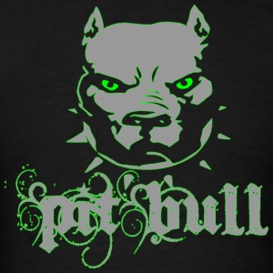 PitBull Terrier Grey Green Zombie - Men's T-Shirt
