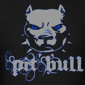 Pitbull Grey Blue Zombie - Men's T-Shirt