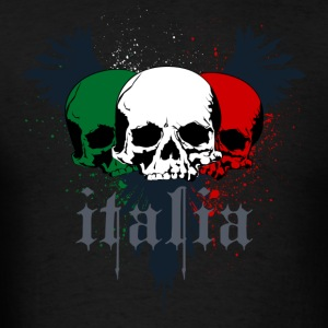 Italy Italia Grunge Skull Tattoo - Men's T-Shirt