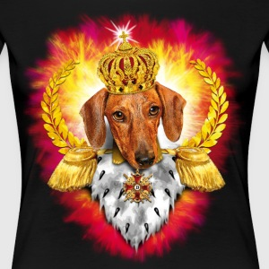 Dachshund General King Cross golden Crown Dog Desi - Women's Premium T-Shirt