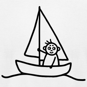 Sailing man - Sailboat T-Shirts - Men's T-Shirt by American Apparel