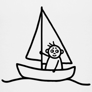 Sailing man - Sailboat Kids' Shirts - Kids' Premium T-Shirt