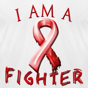 I Am A Fighter (red) T-Shirts - Men's T-Shirt by American Apparel