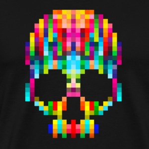 Pixel Skull Cool Design - Men's Premium T-Shirt