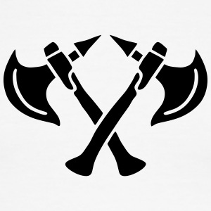 brave warrior gladiator axe tomahawk knights fight T-Shirts - Men's Ringer T-Shirt
