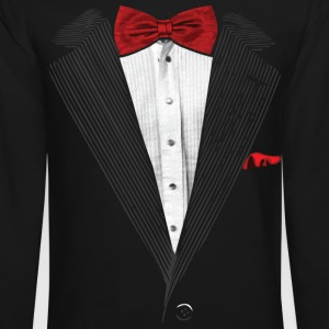 bow tie sear sucker tuxedo Long Sleeve Shirts - Crewneck Sweatshirt