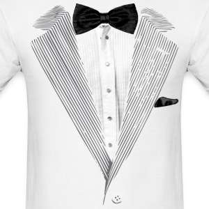 Realistic Tuxedo bow tie and sear sucker T-Shirts - Men's T-Shirt