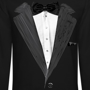Realistic Tuxedo bow tie and sear sucker Long Sleeve Shirts - Crewneck Sweatshirt