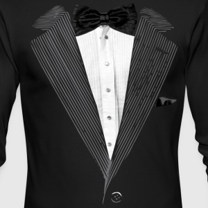 Realistic Tuxedo bow tie and sear sucker Long Sleeve Shirts - Men's Long Sleeve T-Shirt by Next Level