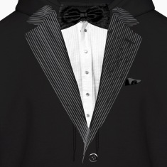 Realistic Tuxedo bow tie and sear sucker Hoodies