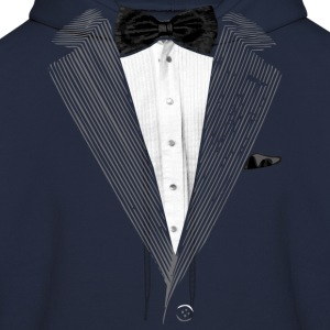 Realistic Tuxedo bow tie and sear sucker Hoodies - Men's Hoodie