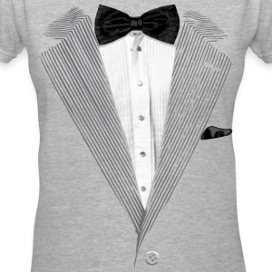 Realistic Tuxedo bow tie and sear sucker Women's T-Shirts - Women's V-Neck T-Shirt