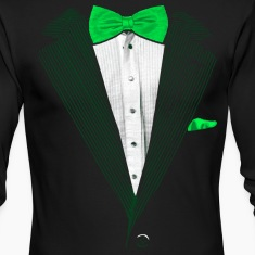 St.Patrick's Day Green Tuxedo Costume Long Sleeve Shirts