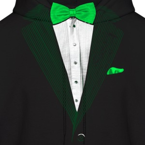 St.Patrick's Day Green Tuxedo Costume Hoodies - Men's Hoodie
