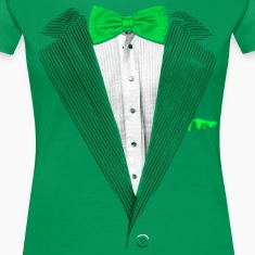St.Patrick's Day Green Tuxedo Costume Women's T-Shirts