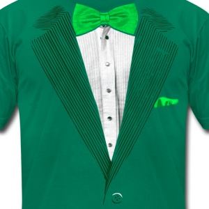 St.Patrick's Day Green Tuxedo Costume T-Shirts - Men's T-Shirt by American Apparel