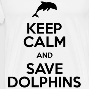keep calm and save dolphins T-Shirts - Men's Premium T-Shirt