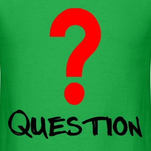 Red Question - Men's T-Shirt